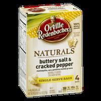 Orville Redenbacher's Naturals Gourmet Popping Corn Buttery Salt & Cracked Pepper - 4 CT