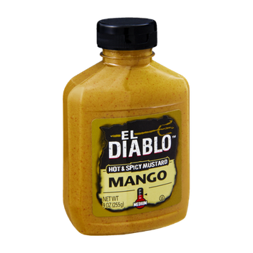 El Diablo Mango Medium Hot & Spicy Mustard