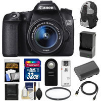 Canon EOS 70D Digital SLR Camera & EF-S 18-55mm IS STM Lens with 32GB Card + Battery & Charger + Backpack Case + Filter + HDMI Cable + Accessory Kit