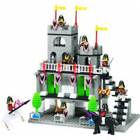 Wange CHATEAUX CASTLE - BUILDING BLOCKS 362 pcs set 40104 in LARGE GIFT BOX ! NEW SET ! Will fit LEGO parts !