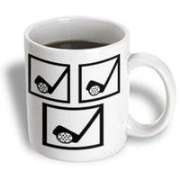 Recaro North 3dRose - Florene Golf - I love Golf - 11 oz mug