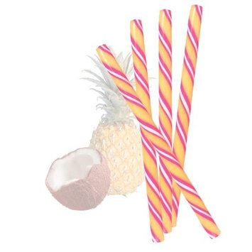 Peppermint Place Pina Colada Circus Sticks, 50 Pina Colada Flavored Hard Candy Sticks