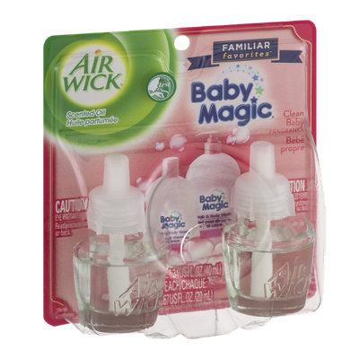Air Wick Scented Oil Baby Magic Refills Clean Baby Fragrance - 2 CT