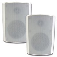 Theater Solutions TS5ODW Indoor or Outdoor Weatherproof HD Mountable White Speaker Pair