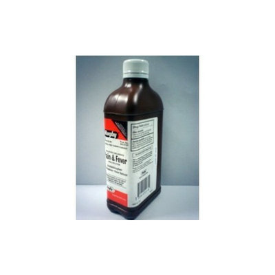 Children's Pain & Fever Oral Solution Acetaminophen Cherry by Rugby 1 Pint (473 mL)