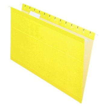 Pendaflex Reinforced Hanging Folders with 1/5 Tab, Legal - Yellow (25