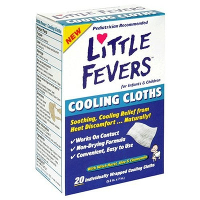 Little Remedies Little Fevers Cooling Cloths for Infants & Children with Witch Hazel, Aloe & Chamomile, 20 cloths