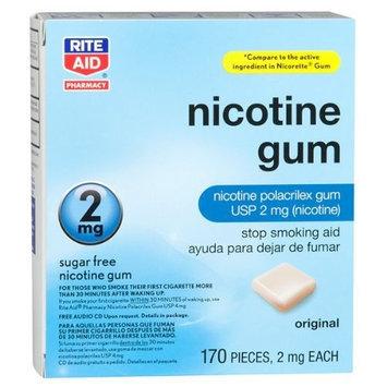 Rite Aid Nicotine Polacrilex Gum 2mg 170 pieces Exp Date 11/11
