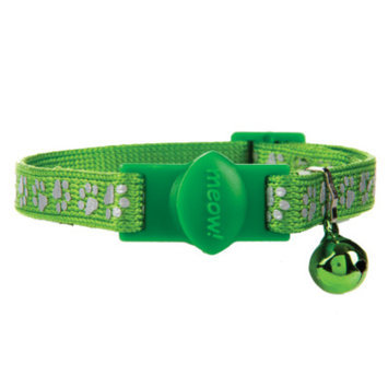 Whisker CityA Paw Print Reflective Breakaway Cat Collar