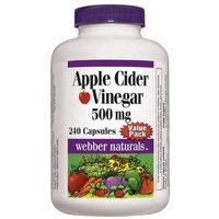 Webber Naturals Apple Cider Vinegar 500mg, 240 capsules