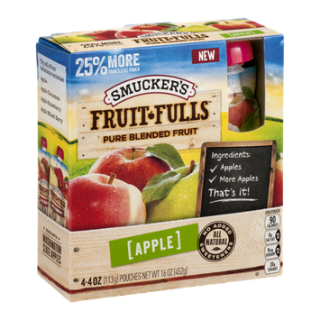 Smucker's Fruit-Fulls Pure Blended Fruit Pouches Apple - 4 CT
