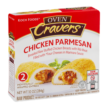 Oven Cravers Chicken Parmesan Filled with Four Cheeses in Marinara Sauce - 2 CT