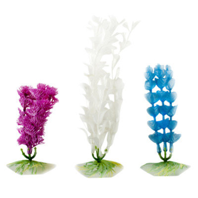 Top Fin Artifical Pealized Aquarium Plant Set