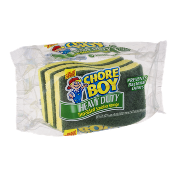 Chore Boy Heavy Duty Two-Sided Scrubber Sponge - 3 CT