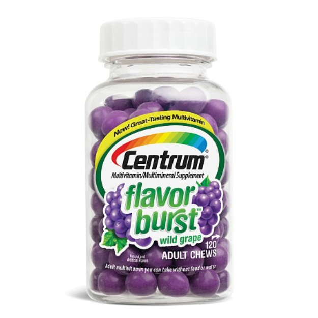 Centrum Flavor Burst Chews Adult Multivitamins Grape