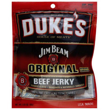 Dukes Duke's House of Meats Jim Beam Original Hickory Smoked Beef Jerky, 3.15 oz, (Pack of 6)