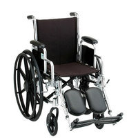 Nova 18 inch Steel Wheelchair with Detachable Desk Arms and Elevating Footrests