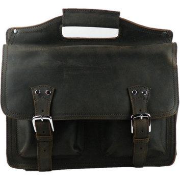 Vagabond Traveler Professional Easy Access Leather Laptop Briefcase