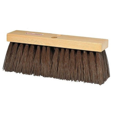 TOUGH GUY 3A325 Push Broom, Brown PP, Street Sweep