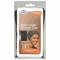 Goody : Black Satin Lined Shower Cap