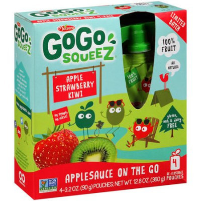 GoGo squeeZ Apple Strawberry Kiwi Applesauce on the Go