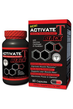 Fusion Diet Systems - Activate T Black Hardcore Testosterone Booster - 90 Capsules