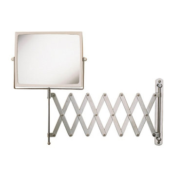 Jerdon 20/20 Hindsight Wall Mount Mirror w/ 4X Magnification & Chrome