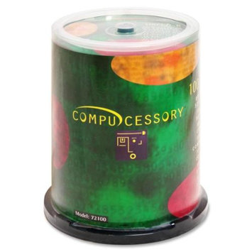 Compucessory CD-R, 52X, 700Mb/80Min, Branded, 100/Pack