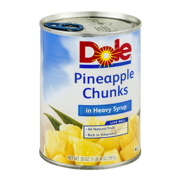 Dole Pineapple Chunks in Heavy Syrup