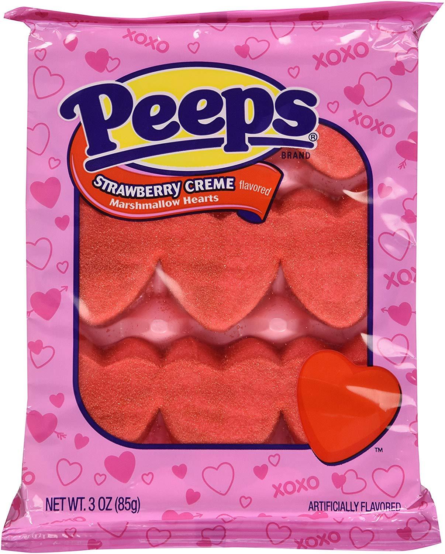 PEEPS® Strawberry Creme Marshmallow Hearts