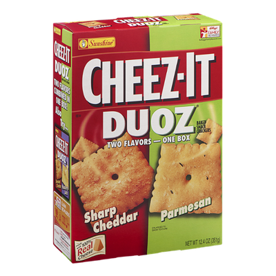 Cheez-It Duoz Baked Snack Crackers Sharp Cheddar/Parmesan