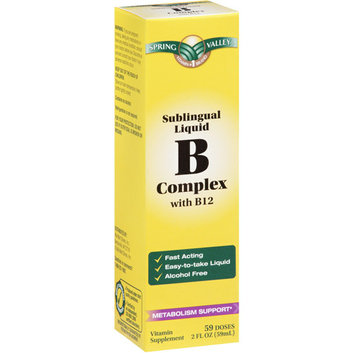 Spring Valley Dietary Supplement B Complex Sublingual Liquid