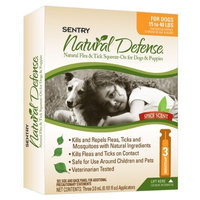 Sentry Natural Defense Natural Flea and Tick Squeeze-On for Dogs and Puppies