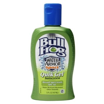 Bull Frog Water Armor Sport Quik Gel Sunscreen, SPF 50, 5 oz