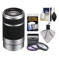 Sony Alpha NEX E-Mount 55-210mm f/4.5-6.3 OSS Zoom Lens with 3 Filters + Kit for A7, A7R, A7S, A3000, A5000, A5100, A6000 Cameras