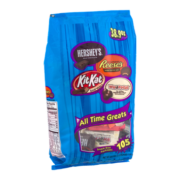 All Time Greats Snack Size Assortment - Hershey's, Reese's, Kit Kat & Whoppers - 105 CT