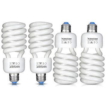 Neewer 35W 110V 5500K Tri-phosphor Spiral CFL Daylight Balanced Light Bulb in E27 Socket for Photo