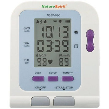 NatureSpirit Up-Arm Digital Blood Pressure with USB Analytical Software Port to Measure Blood Oxygen Level, 1.4 Pound