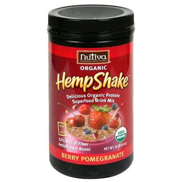 Nutiva Hemp Shake Berry Pomegranate 16 Ounces