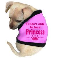 Pet Tease I Didn't Ask To Be A Princess Dog Tank, Pink