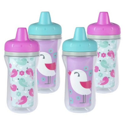The First Years 4pk Insulated Sippy Cup - Birds