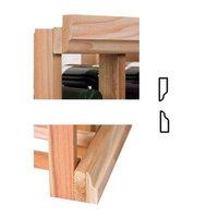 Wine Cellar Innovations 4 ft. Moulding w OG Base & OG Crown (Rustic Pine - Unstained)