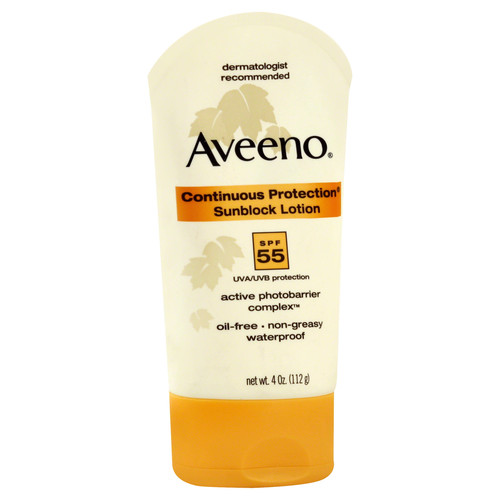 Aveeno® Aveeno Sunblock Lotion, Continuous Protection, SPF 55 - 4 oz