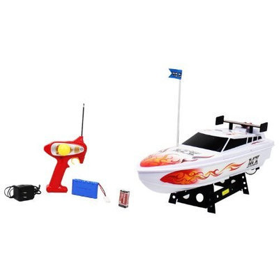 www.AirsoftRC.com MX Championship Flaming Pearl Electric RTR RC Speed Boat Good Quality Remote Control Boat RECHARGEABLE!