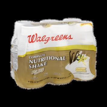 Walgreens Creamy Vanilla Complete Nutritional Shake Plus - 6 PK