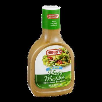 Henri's Homestyle Dressing Honey Mustard Fat Free
