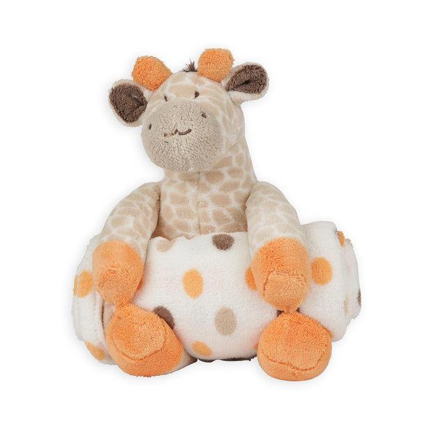 Triboro Quilt Mfg. Corp. Infant's Plush Giraffe Toy & Fleece ... : triboro quilt - Adamdwight.com