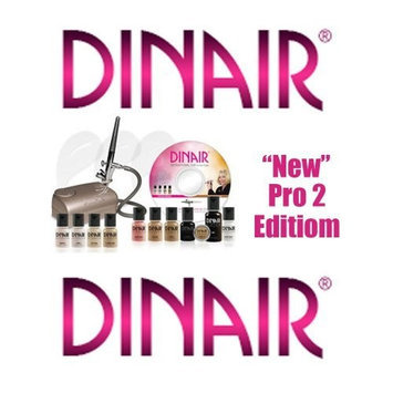 Dinair Airbrush Makeup Airbrush Makeup Kit Dinair PRO EDITION, 8 Makeup Colors/Shades Salon Quality CHAMPAGNE SILVER-COMPRESSOR - MEDIUM COMPLEXION