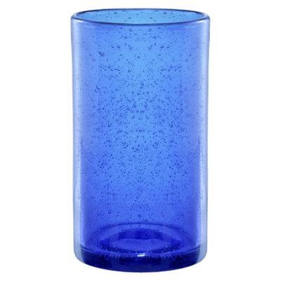 Artland Iris Highball Glass Set of 6 - Cobalt (17 oz)