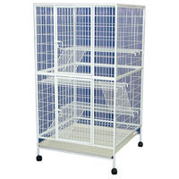 Yml Group 35 in. 4 Levels Small Animal Cage With Wire Bottom Grate and Plastic Tray